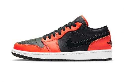"Air Jordan 1 Low SE Lands In Bold ""Black/Orange"" Colorway"