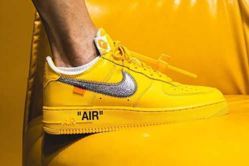 """The Off-White™ x Nike Air Force 1 """"University Gold"""" Is Releasing Soon"""