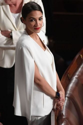 Alexandria Ocasio-Cortez's Perfect White Cape Blazer, We