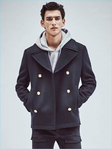 Outerwear Update: Thibaud Charon Models H&M Outerwear