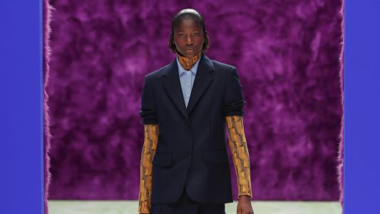 Miuccia Prada and Raf Simons deliver glitterati glamour at Prada AW21