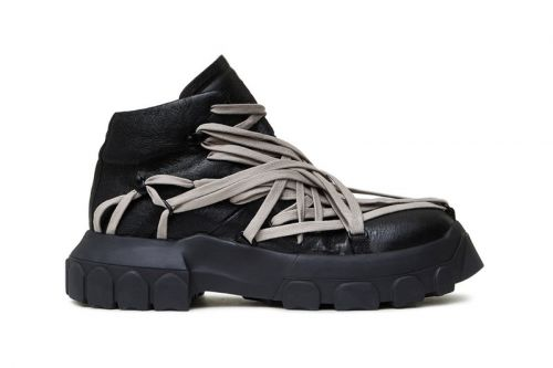 Rick Owens Wraps Tecuatl Tractor Sneakers in Extra Laces for FW20