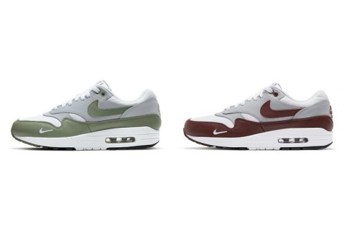 """Mini Swooshes Return on the Nike Air Max 1 """"Spiral Sage"""" and """"Mystic Dates"""""""