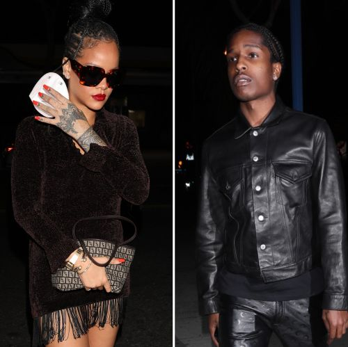 Rihanna Looks Fabulous Leaving Drake's Party in Los Angeles With Boyfriend A$AP Rocky: Photos
