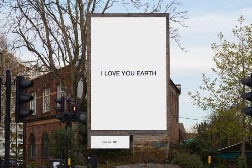 Yoko Ono launches billboards to highlight environmental crisis