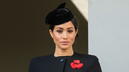 This Is Why Meghan Markle Didn't Stand With the Rest of the Royal Family at the WWI Remembrance Ceremony