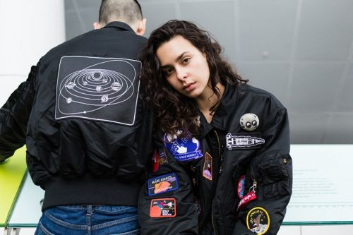 PINTRILL Adds Outer Space-Themed Patches to Alpha Industries' Flight Jacket