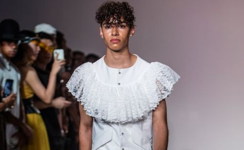 "Kenneth Nicholson presents ""Lover From the Bath"" at NYFW: Men's"