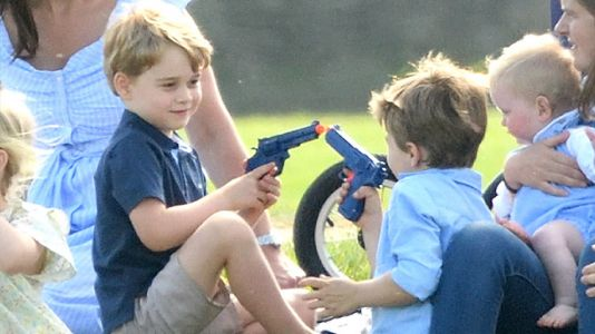 Prince George Was Just Spotted Playing With a Toy Gun and the Photos Have Twitter Divided