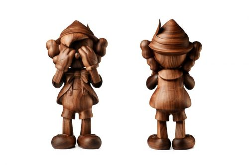 KAWS & Disney Team up on Limited 'PINOCCHIO' Wooden Sculpture