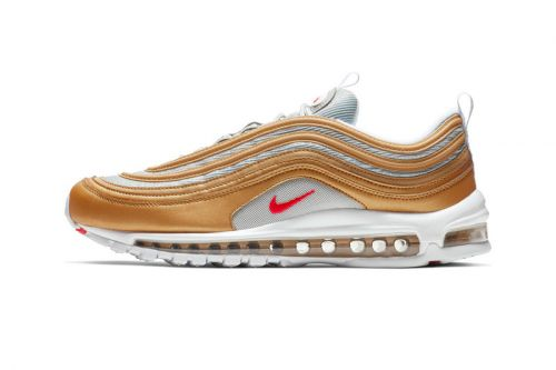 "Nike Drops the Air Max 97 in ""Metallic Gold/University Red"""