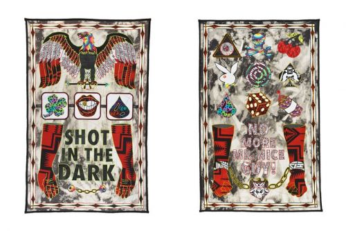 Ben Venom Fuses Folk & Punk Graphics in New Textile Artworks