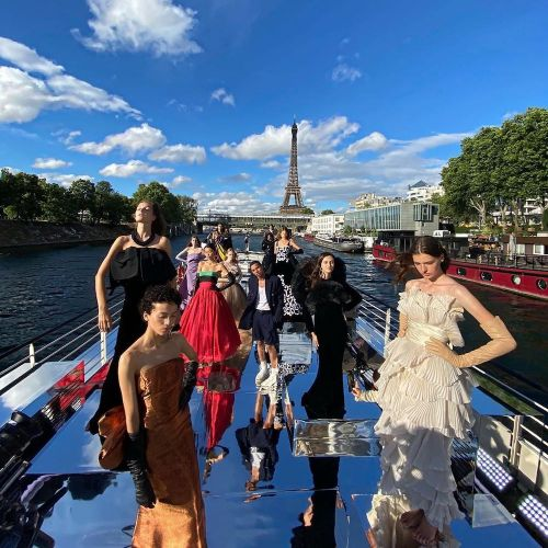 Balmain Marks 75th Anniversary With a Couture Spectacle On Water