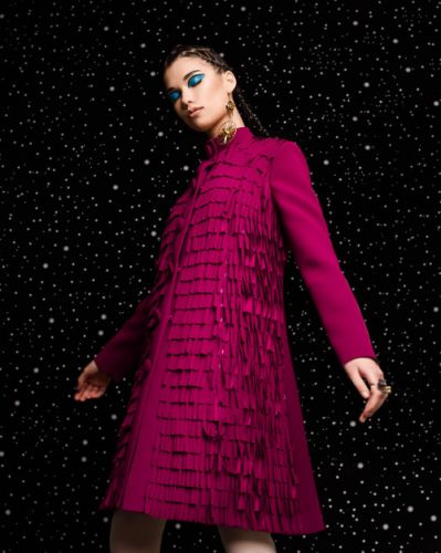 Brighten the night sky in this fabulous fuchsia design - GEORGES
