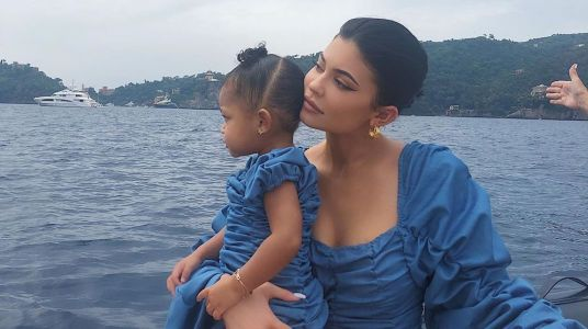 Kylie Jenner and Stormi Webster Adorably Wear Matching Outfits in Italy