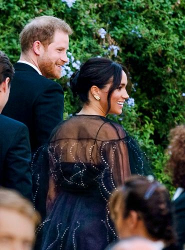 Duchess Meghan and Prince Harry Step Out for Misha Nonoo and Michael Hess' Lavish Nuptials in Rome