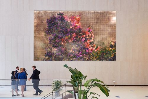 TeamLab Permanently Installs Real-Time Artwork of Flowers in NYC