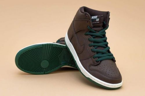 """This Nike SB Dunk High """"Baroque Brown"""" QS Is Built With Vegan Leather"""