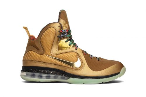 """Nike's LeBron 9 """"Watch the Throne"""" Sample Emerges in Gold"""