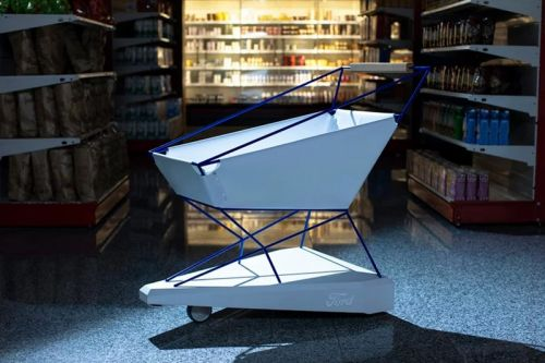 Ford Reinvents the Shopping Cart With a Self-Braking System