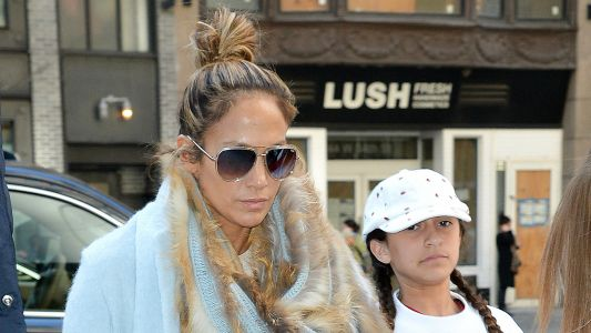 Jennifer Lopez Makes a Rare Appearance With Daughter Emme in NYC -See the Sweet Pics!