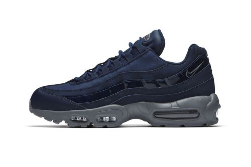 """Nike Adds Patent Leather Details to Air Max 95 """"Obsidian"""""""