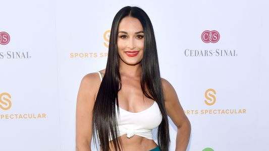 Nikki Bella Flaunts Her Toned Tummy at the Cedars-Sinai and Sports Spectacular Gala