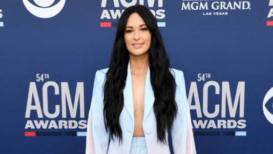 Kacey Musgraves Was a Treat in a Cotton Candy-Colored Ombré Suit