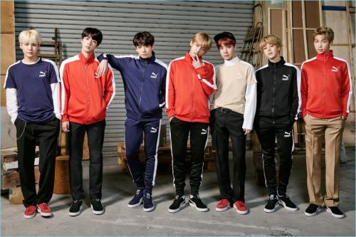 BTS Embraces Sporty Style for Puma Campaign