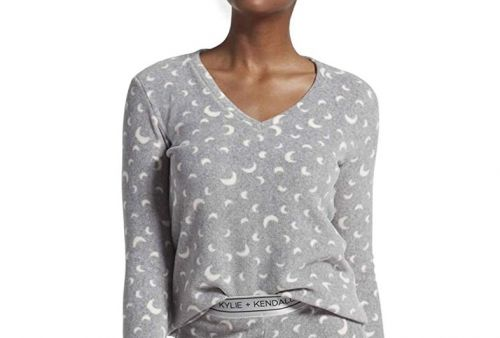 Kendall and Kylie's moon print PJs look. kinda familiar