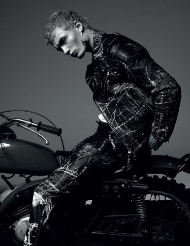 The Rider: João Knorr Dons Moto Style for GQ Portugal