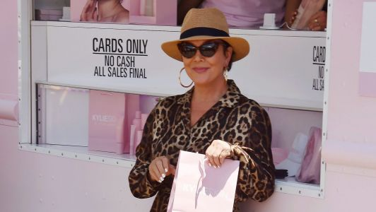Proud Mom Kris Jenner Looks So Cute Supporting Kylie at the Kylie Skin Truck Launch in L.A