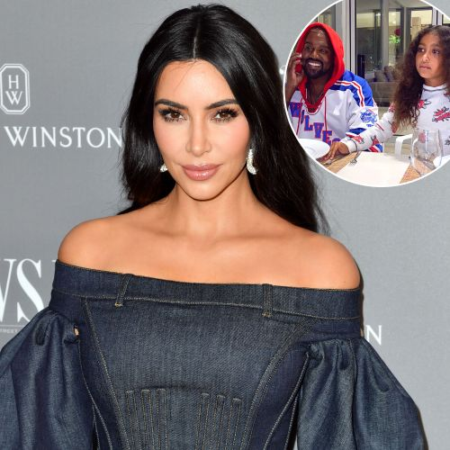 Kanye and North West Support Mom Kim Kardashian's Skims Launch at Selfridges in London