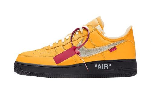 "Release Info for the Off-White™ x Nike Air Force 1 ""University Gold"""