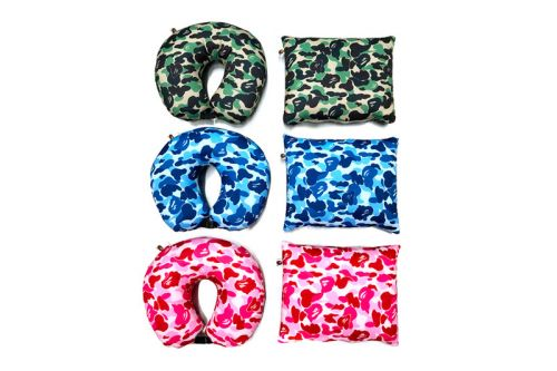 BAPE's Colorful ABC 2-Way Neck Pillows Are a Travel Must-Have