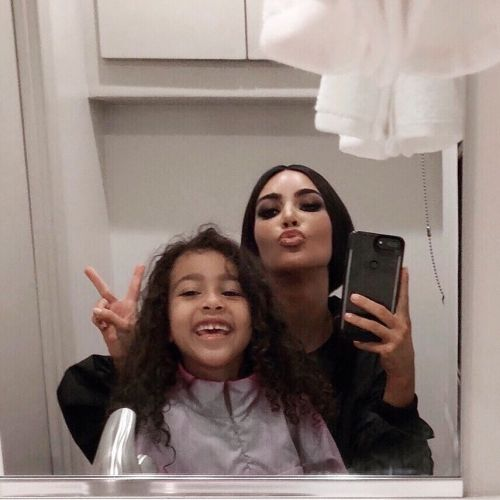 LOL! Kim Kardashian Lets Daughter North West Do Her Makeup and the Result Is Extra Grinchy