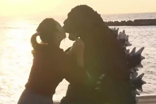 Reptilian romance: Teen's dream of going on a date with Godzilla comes true