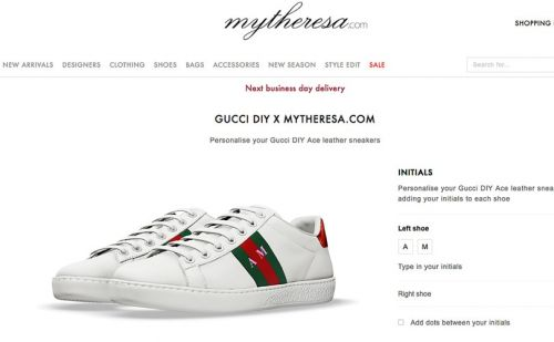 Mytheresa.com launches Gucci's DIY sneaker service