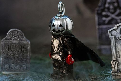Goodfight and Good Art HLYWD Get Spooky With Silver Pumpkin Head Charm