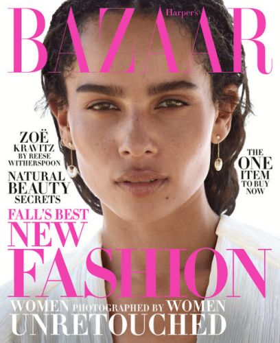 Zoe Kravitz covers Harper's Bazaar for October 2018The actress