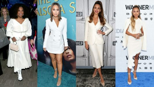 The Best-Dressed Celebrities This Week Stepped Out in Various Shades of White