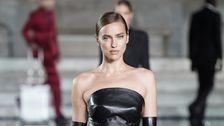Irina Shayk Slays Runway In Black Leather A Week After Bradley Cooper Split