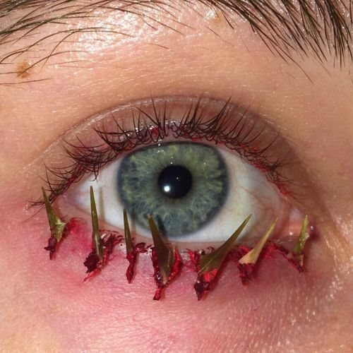 How to create strange eye make-up with everyday objects