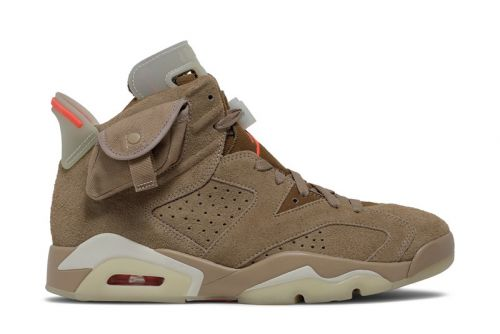 "Here's An Early Look at the Travis Scott x Air Jordan 6 ""British Khaki"""