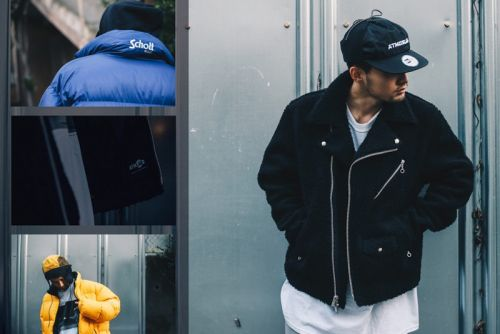 Atmos LAB & Schott NYC Deliver Fleece Rider's Jackets & Reversible Down Outerwear for FW18 Collab