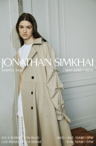 JONATHAN SIMKHAI AND MICHI SAMPLE SALE, May 22 - 26 - Los Angeles