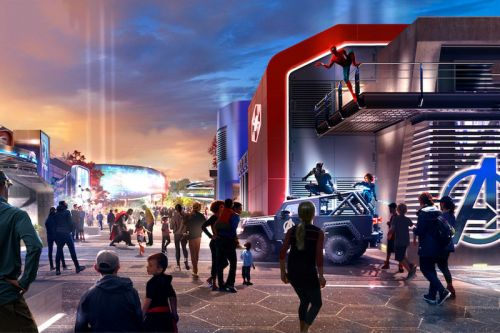 Disneyland Paris Reveals New Illustration of Marvel-Themed Area