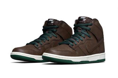 "Official Look at the Vegan Leather-Infused Nike SB Dunk High ""Baroque Brown"""