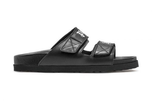 Palm Angels Drops Sleek Black Leather Sandals for SS21