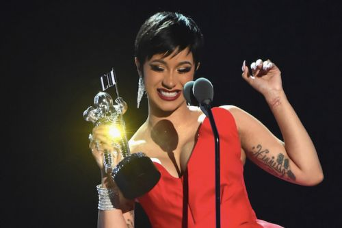 Watch Cardi B Collect Her Best New Artist Award at the 2018 MTV VMAs